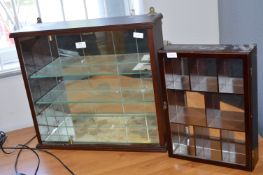 Two Collectors Cabinets with Mirrored Backs and Gl