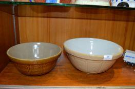 Pair of Vintage Mixing Bowls