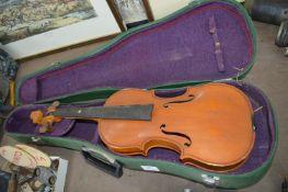 Cased Violin