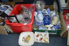 Two Boxes of Pottery & Glassware