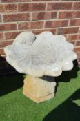 Garden Birdbath in the Form of a Oyster Shell