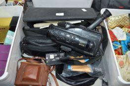Mitsubishi Camcorder, Vintage Camera, Binocular, e