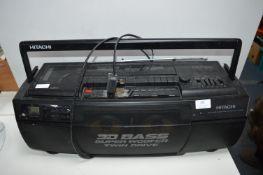 Hitachi 3D Super Woofer Twin Drive Portable Tape C