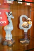 Pair of Novelty Ceramic Animals