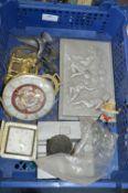 Tray Lot Including Aluminium Plaques, Horse Brasse