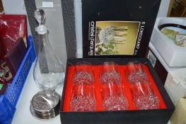 Crystal Decanter and Glasses Set