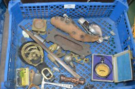 Tray Lot of Collectibles Including Letterbox, Camp