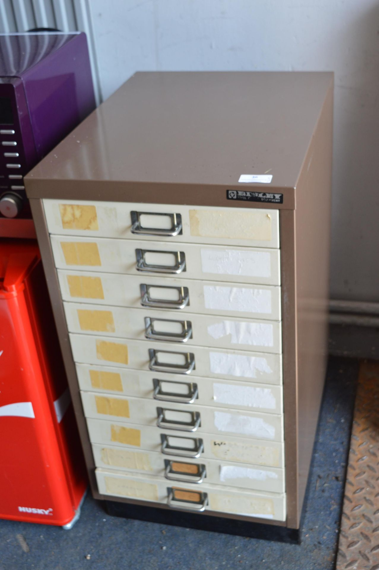 Lot 36 - Bisley 10 Drawer Office Filing Cabinet