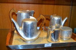 Picquot Ware Tray and Coffee Set
