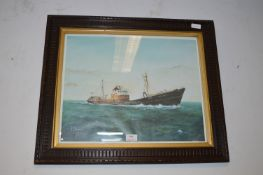 Period Oak Framed Print by A.P.Thompson of the Arctic Ranger Hull Trawler