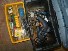 Toolbox with Black & Decker Drill and Assorted Too