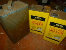 Small Jerry Can and 2x 5L Tins of Path & Drive Sea