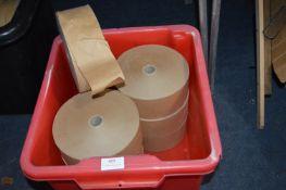 7 Rolls of 70mm Brown Gummed Framer's Tape