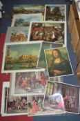 Prints of Classical Paintings and Scenes; Canaletto, etc.
