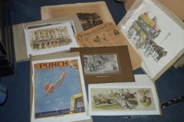 Vintage Style Prints - Transport, Punch, Newspapers, etc.