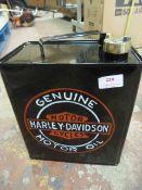 *Reproduction Harley Davidson Petrol Can