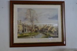 Framed Print by Alan Ingham of a Dales Village - Village Stream