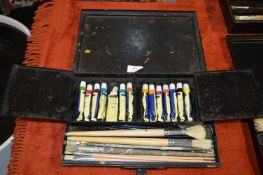 Reeves Vintage Portable Artists Case and Contents