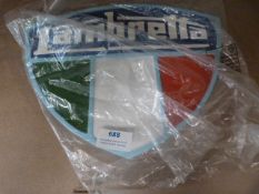 *Reproduction Lambretta Sign