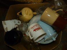 Box of China and Glassware
