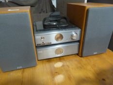 Hitachi CD Player with Amp and Speakers
