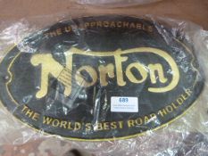 *Reproduction Metal Norton Sign