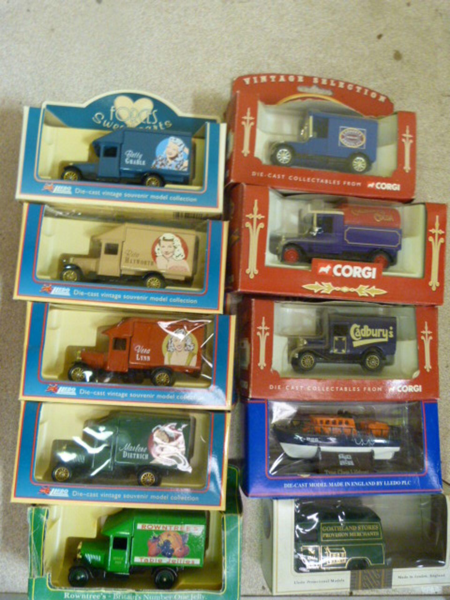 Lot 659 - Ten Model Vintage Vehicles