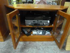 G Plan TV Stand with Sanyo Video Recorder and Humax DVD Player