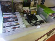 Xbox 360 with Controller and Various Games