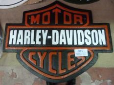 *Reproduction Metal Harley Davidson Sign