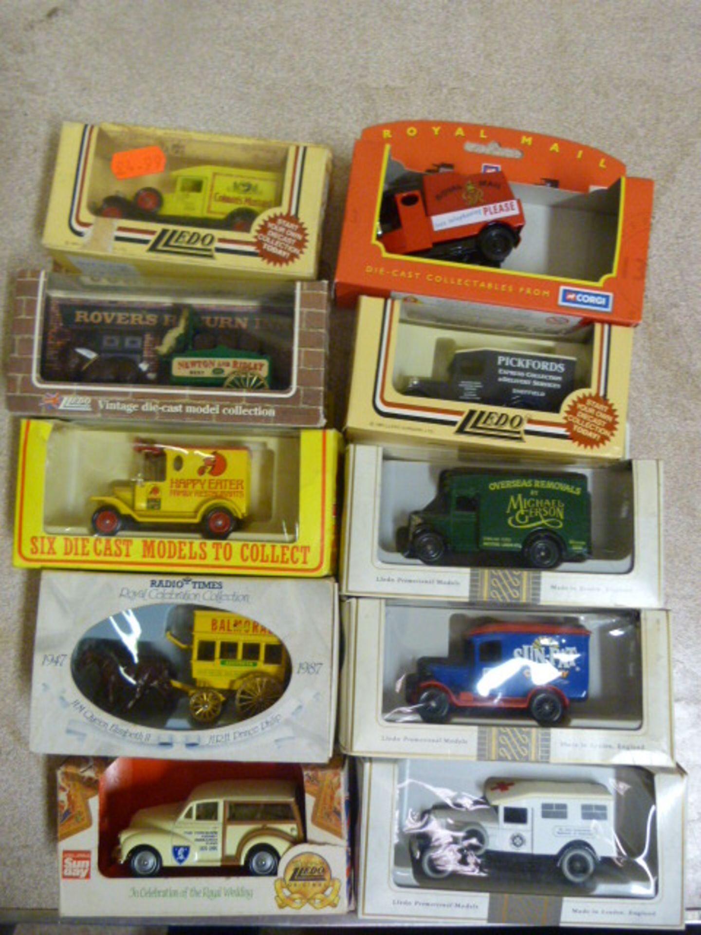 Lot 655 - Ten Model Vintage Vehicles