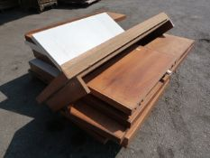 Pallet of Wood Effect Commercial Shelving