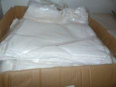 ~110 White Crushed Taffeta Chair Covers