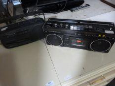 *Roberts RSR 50 and a Saisho RTR 202 Radio Cassett