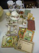 Commemorative ware, Torquay and Motto ware & Small Quantity of Small Travel Photo Albums
