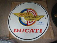 *Reproduction Metal Ducati Sign