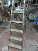 Wooden Four Tread Decorating Steps