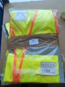*5 Hi-Vis Vest/Waistcoats (Various Sizes & Colours