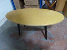 *Gold Painted Oval Coffee Table