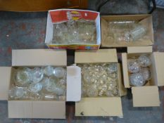 Large Quantity of Glassware Including Cheese Dish,