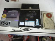 Bell & Howell Cassette Player, Casio Cassette Player & Paccasilly Radio