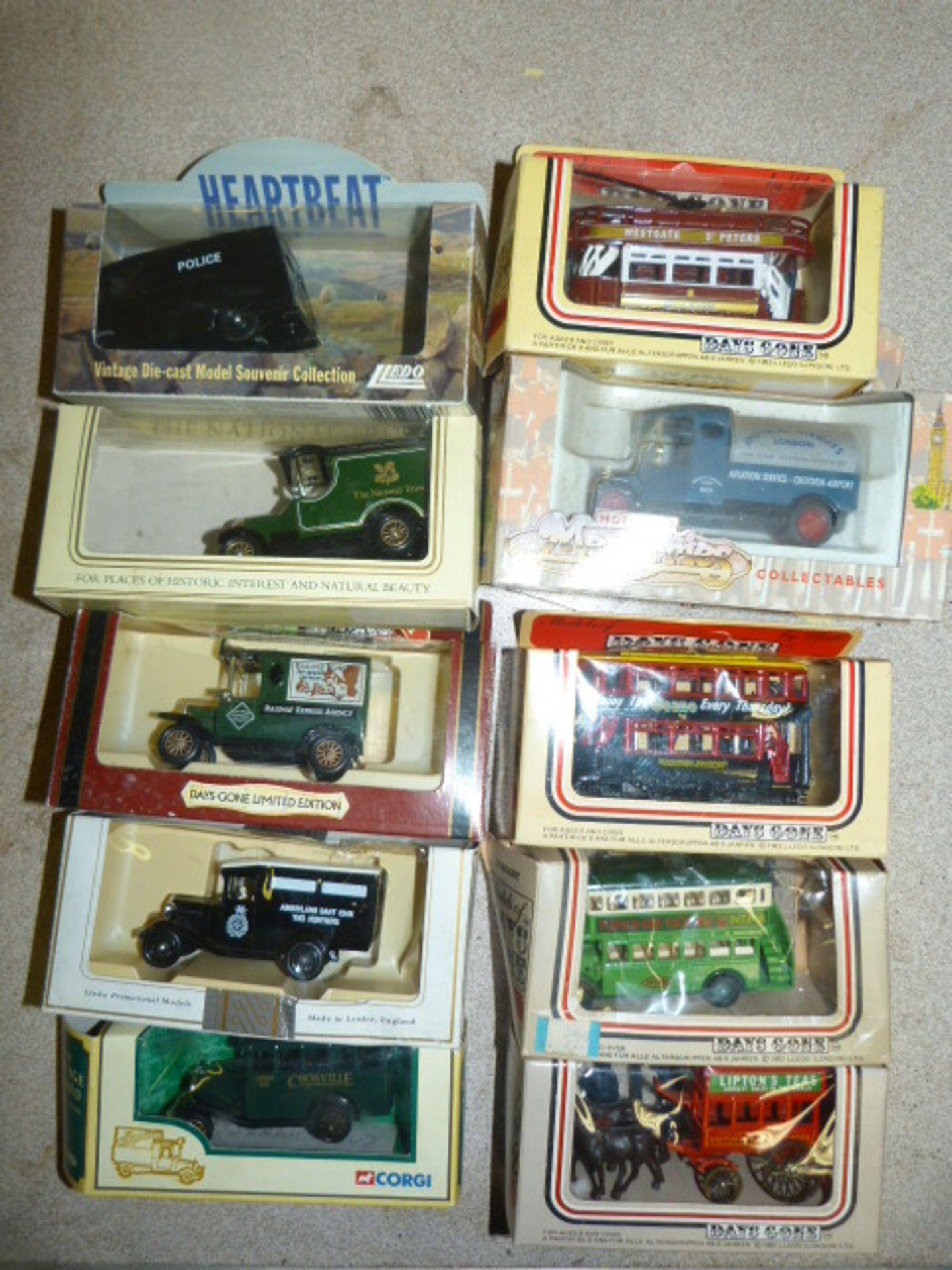Lot 652 - Ten Model Vintage Vehicles