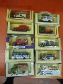 Ten Assorted Model Vehicles