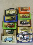 Ten Model Vintage Vehicles