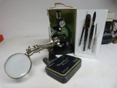 Student Microscope, Magnifying Glass etc