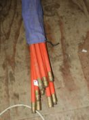 *Set of Red Drain Rod