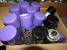 *Assorted Black Spray Paint, Cleaner, etc.
