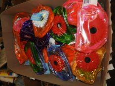 *60 PVC Coloured Make-Up Bags/Purses