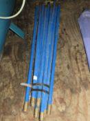 *Set of Blue Drain Rods
