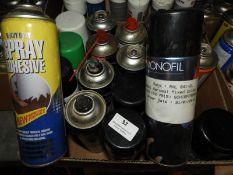 *20 Aerosols of Spray Adhesives, Paints, Penetrati